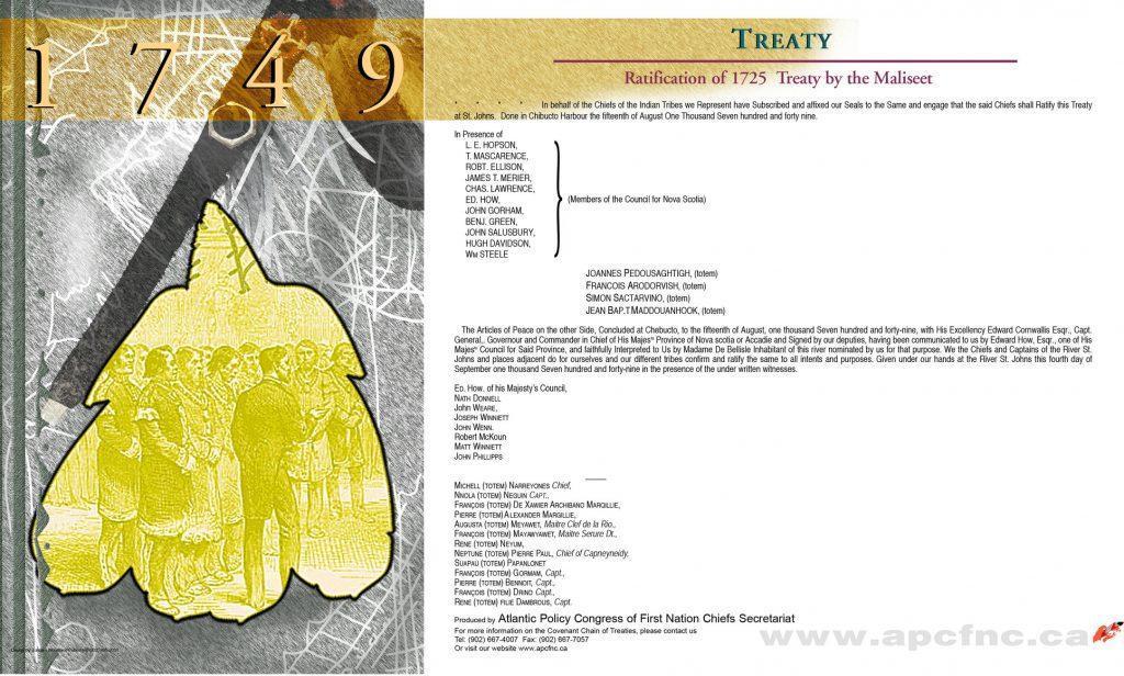 1749 treaty