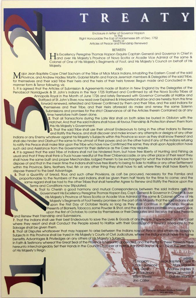 1752 treaty