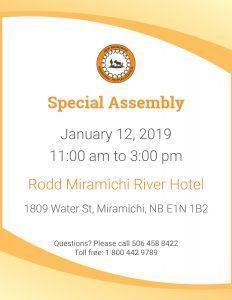 Special Assembly @ Rodd Miramichi River