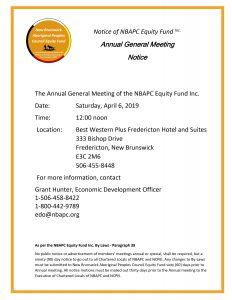 NBAPC Equity Fund Inc. Annual General Meeting @ Best Western Plus Fredericton Hotel and Suites