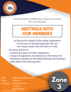 Zone 3 members consultation meeting - Indian Registration @ Howard Johnson