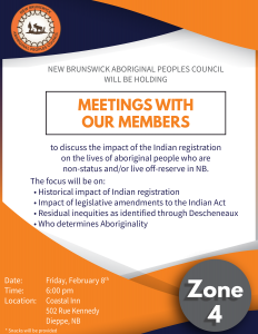 Zone 4 members consultation meeting - Indian Registration @ Coastal Inn