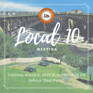 NBAPC- Local 10 - March 2019 Meeting @ Sobeys (East Point)