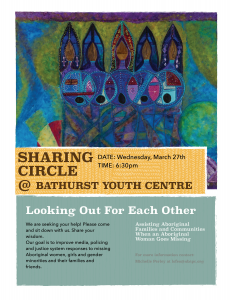 SHARING CIRCLE @ BATHURST YOUTH CENTRE