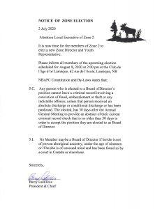 Zone 2 Elections @ Club De L'Age D'Or - Lamèque in NB